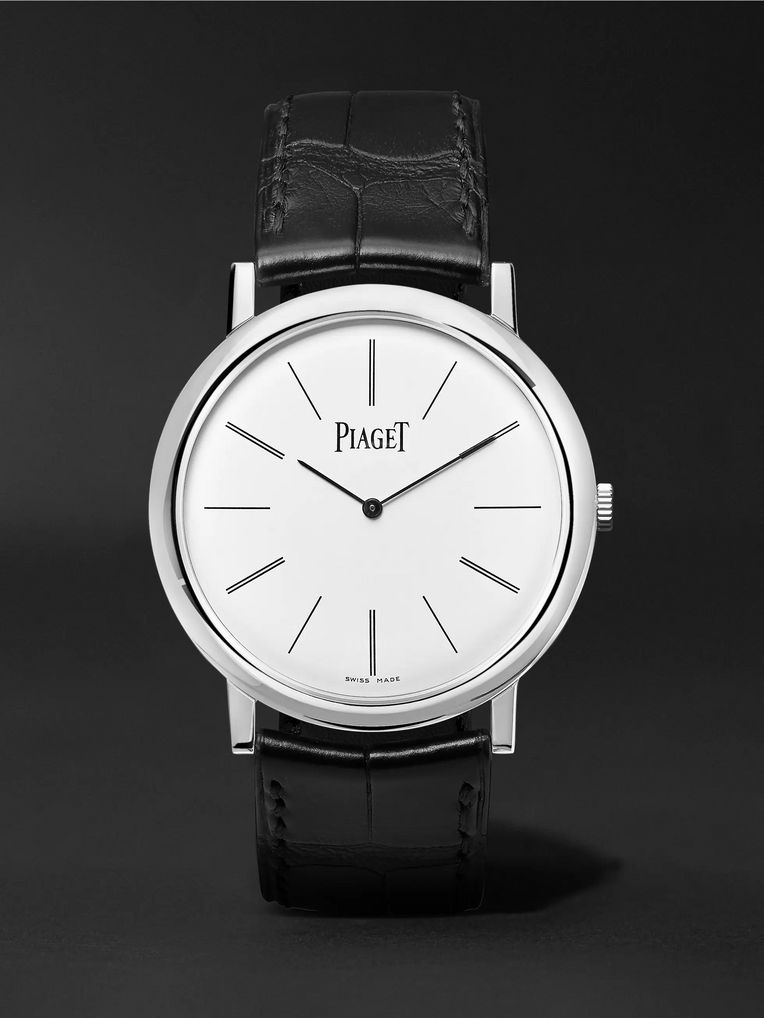 Piaget Altiplano 38mm 18-Karat White Gold and Alligator Watch, Ref. No. G0A29112
