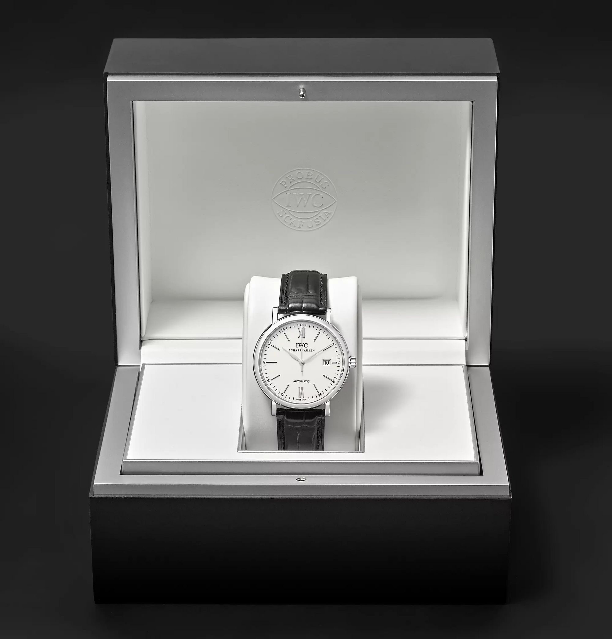 IWC SCHAFFHAUSEN Portofino Automatic 40mm Stainless Steel and Alligator Watch, Ref. No. IW356501