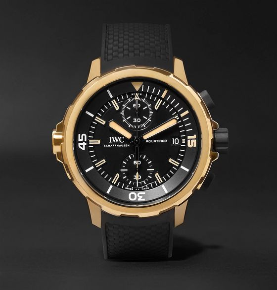 IWC SCHAFFHAUSEN Aquatimer Expedition Charles Darwin Chronograph 44mm Bronze and Rubber Watch, Ref. No. IW379503