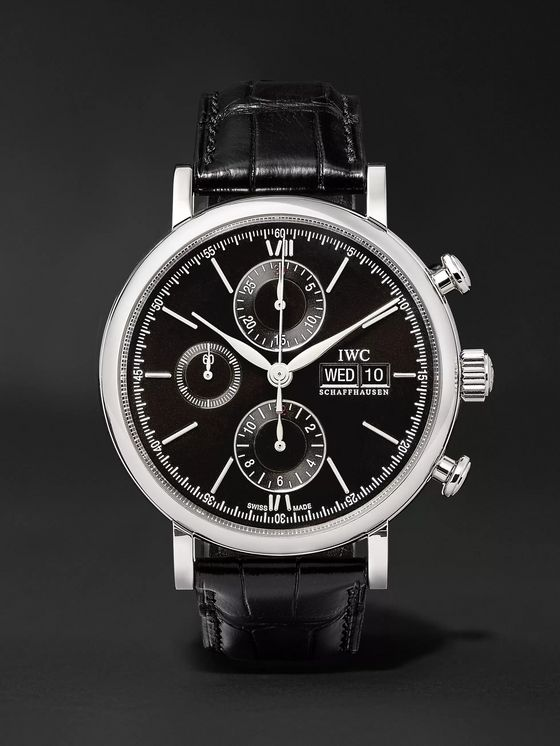 IWC SCHAFFHAUSEN Portofino Chronograph 42mm Stainless Steel and Alligator Watch, Ref. No. IW391008