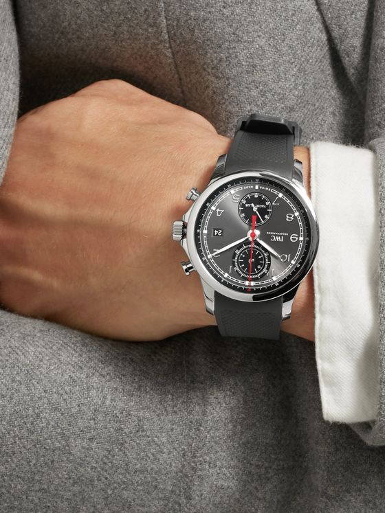 IWC SCHAFFHAUSEN Portugieser Chronograph 43.5mm Yacht Club Stainless Steel and Rubber Watch, Ref. No. IW390503
