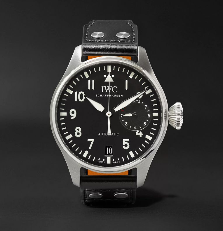 IWC SCHAFFHAUSEN Big Pilot's 46mm Stainless Steel and Leather Watch, Ref. No. IW500912