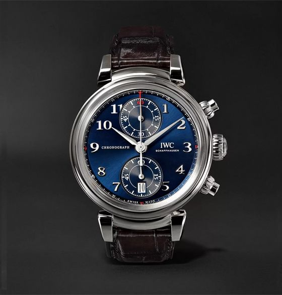 IWC SCHAFFHAUSEN Da Vinci Edition Chronograph 42mm Stainless Steel and Alligator Watch, Ref. No. IW393402