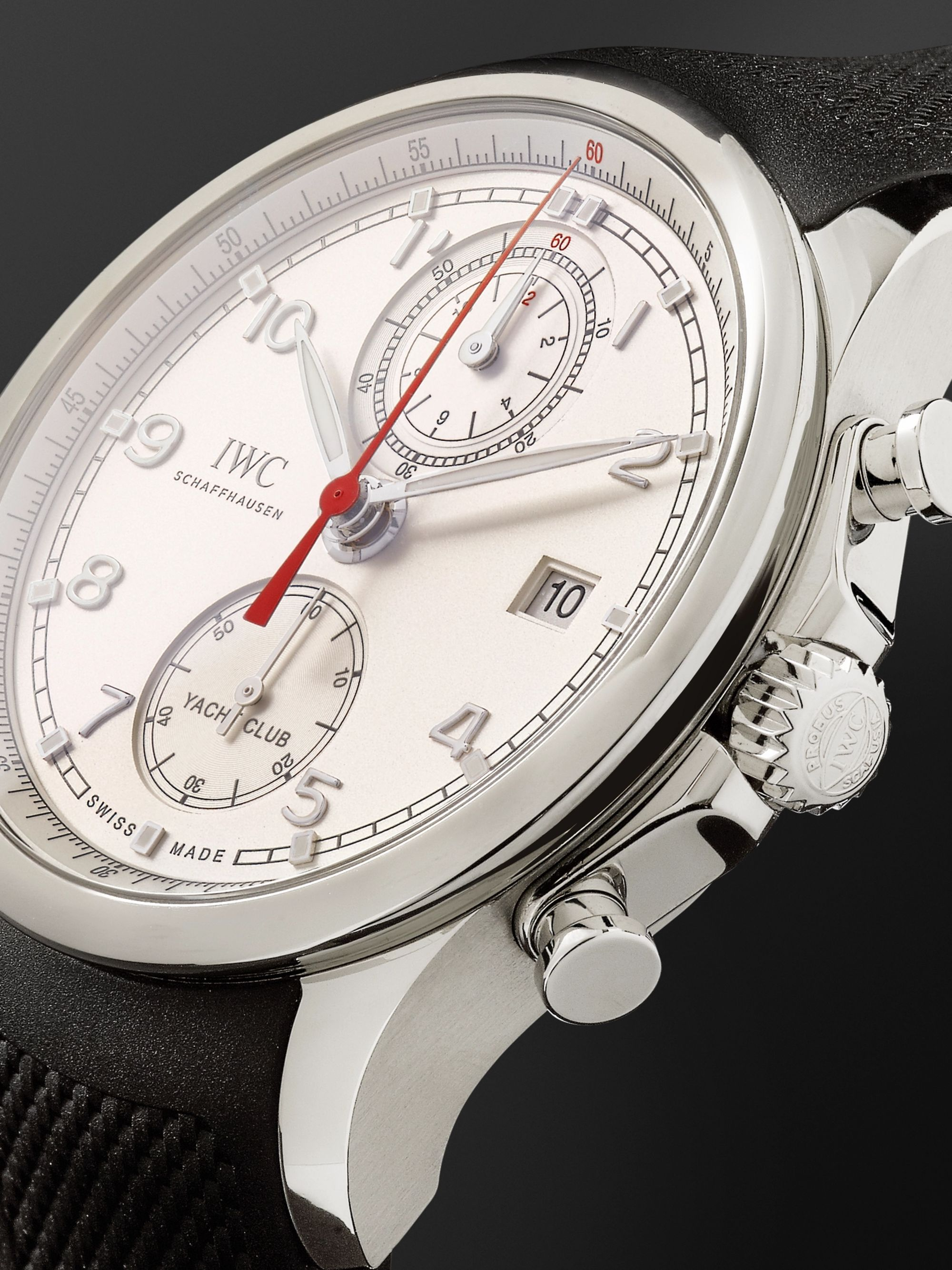 IWC SCHAFFHAUSEN Portugieser Yacht Club Chronograph 43.5mm Stainless Steel and Rubber Watch, Ref. No. IW390502