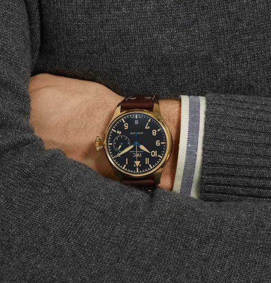 IWC SCHAFFHAUSEN Limited Edition Big Pilot's Heritage 46mm Bronze and Leather Watch, Ref. No. IW501005