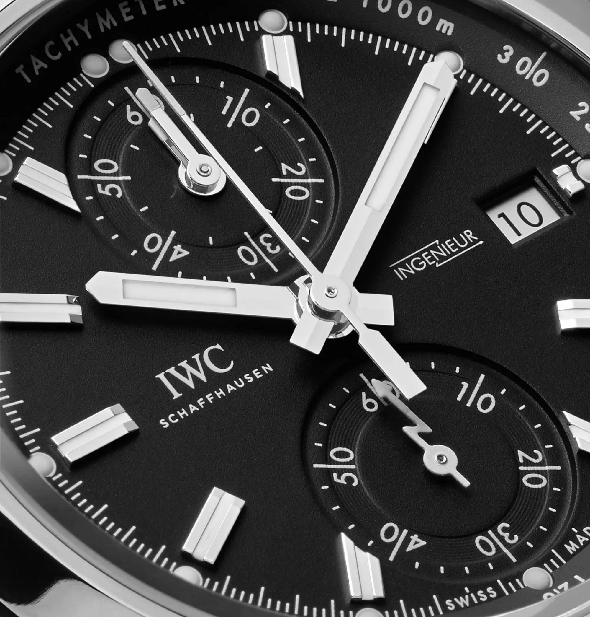 IWC SCHAFFHAUSEN Ingenieur Chronograph Sport 44mm Titanium and Leather Watch, Ref. No. IW380901