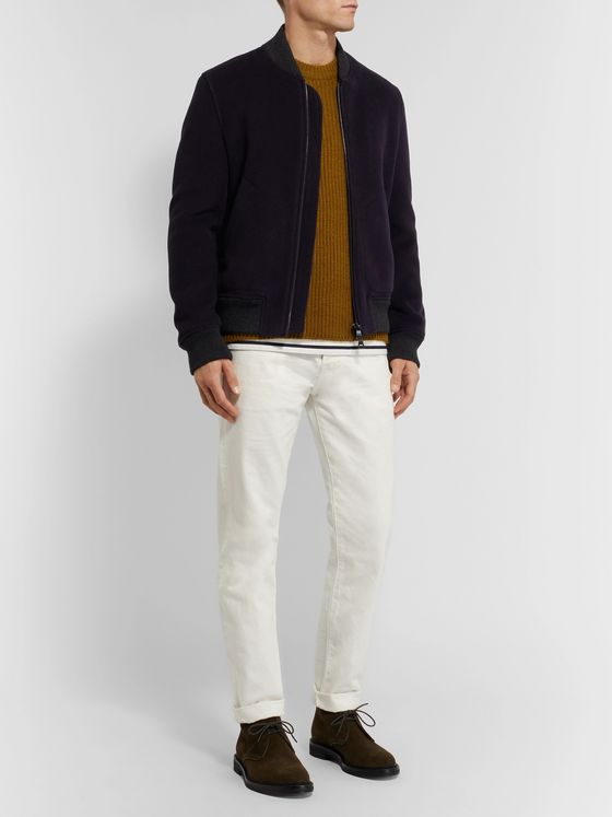 Mr P. Wool-Blend Bomber Jacket