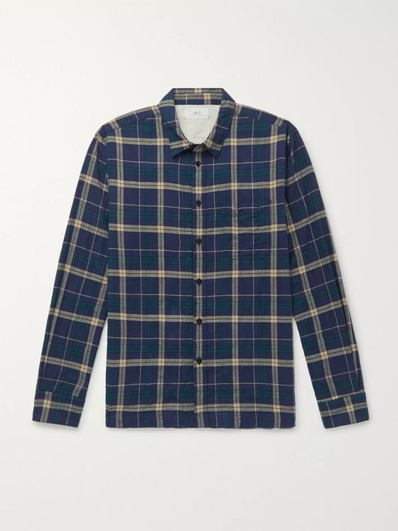 Mr P. Checked Cotton-Blend Shirt