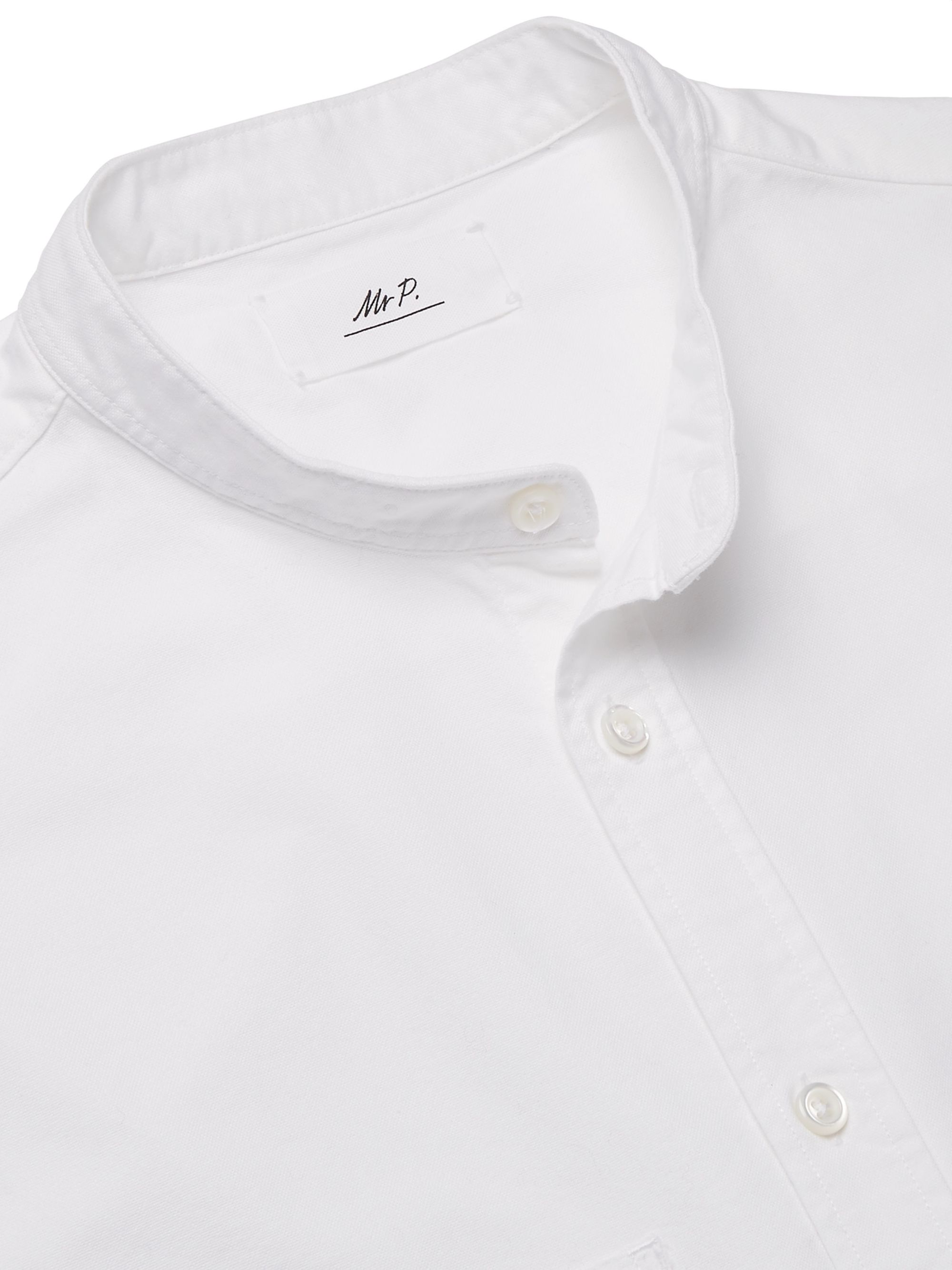 Mr P. Grandad-Collar Cotton Oxford Shirt