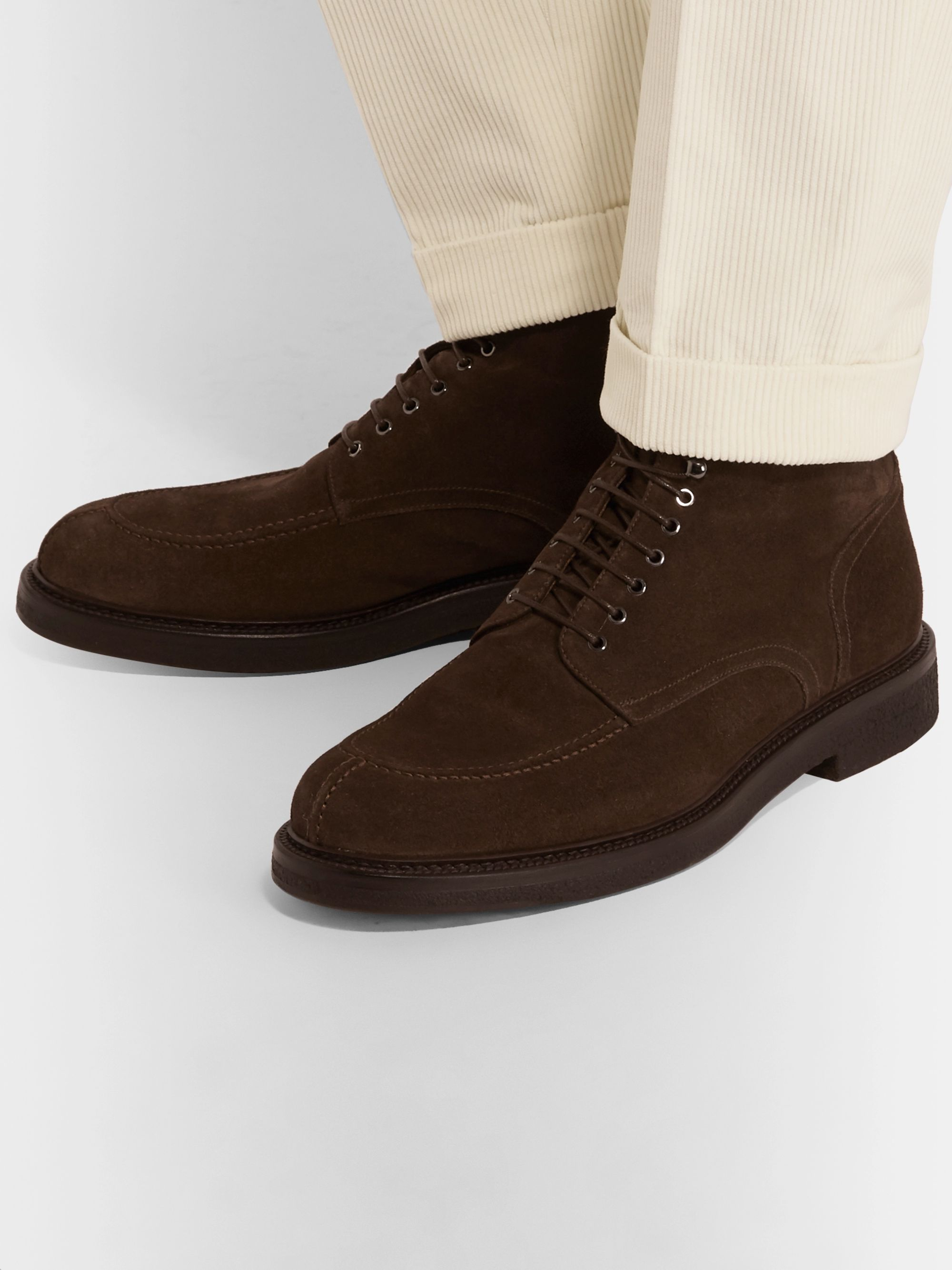 Mr P. Jacques Shearling-Lined Suede Boots