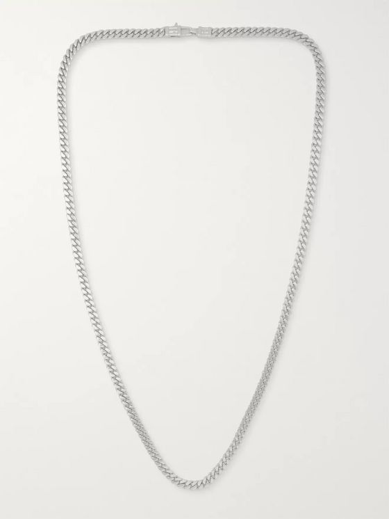 Tom Wood Curb Oxidised Sterling Silver Necklace