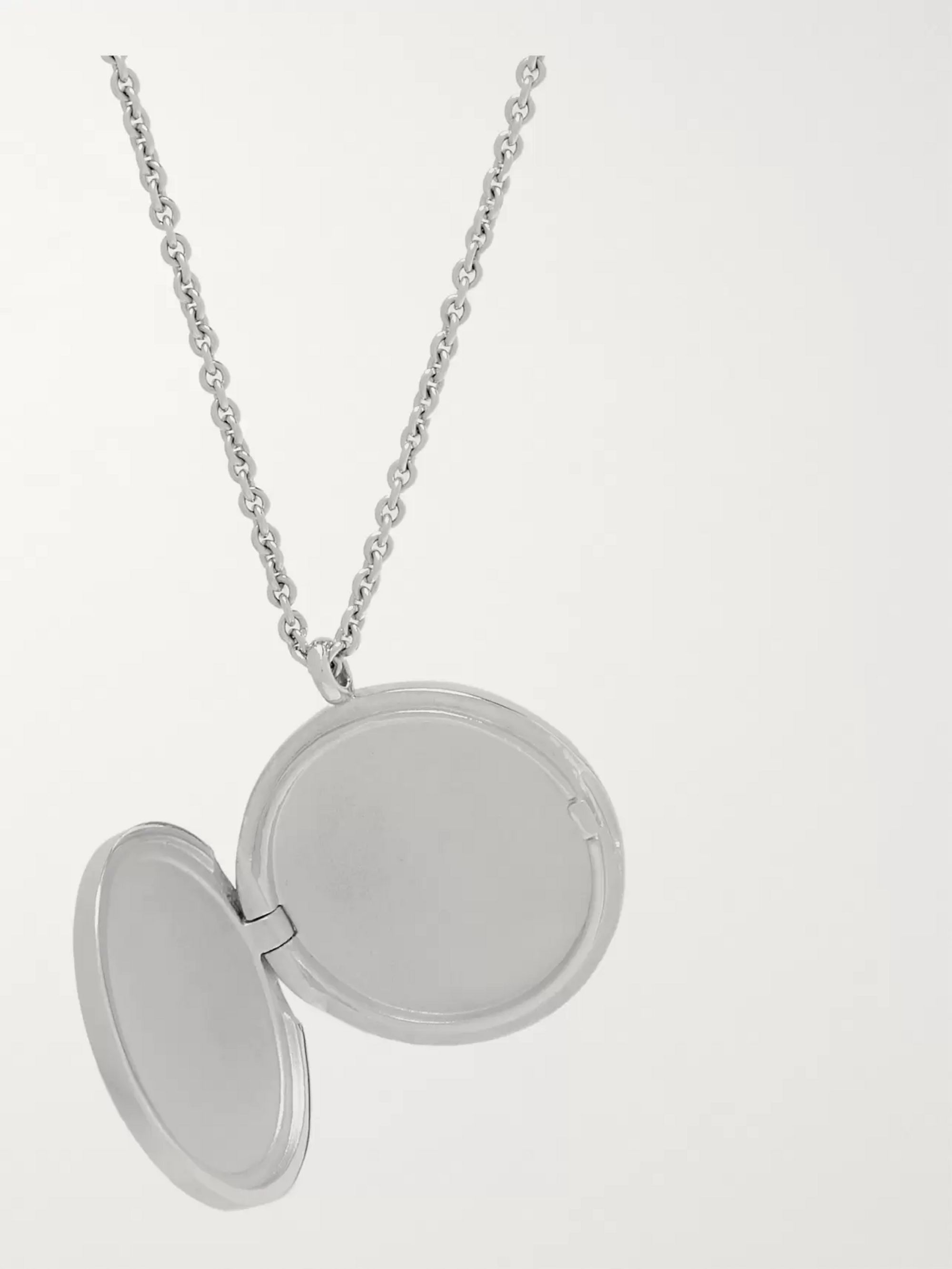 Tom Wood Medallion Polished Sterling Silver Necklace