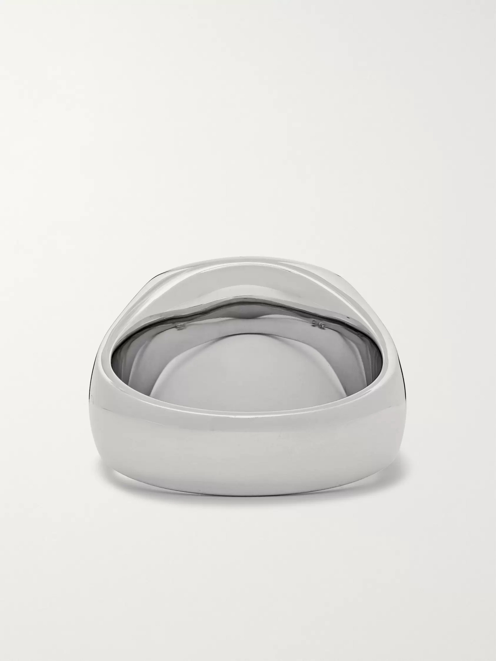 Tom Wood Cushion Sterling Silver Onyx Ring