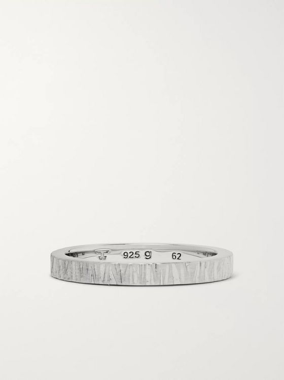 Tom Wood Structure Oxidised Sterling Silver Ring