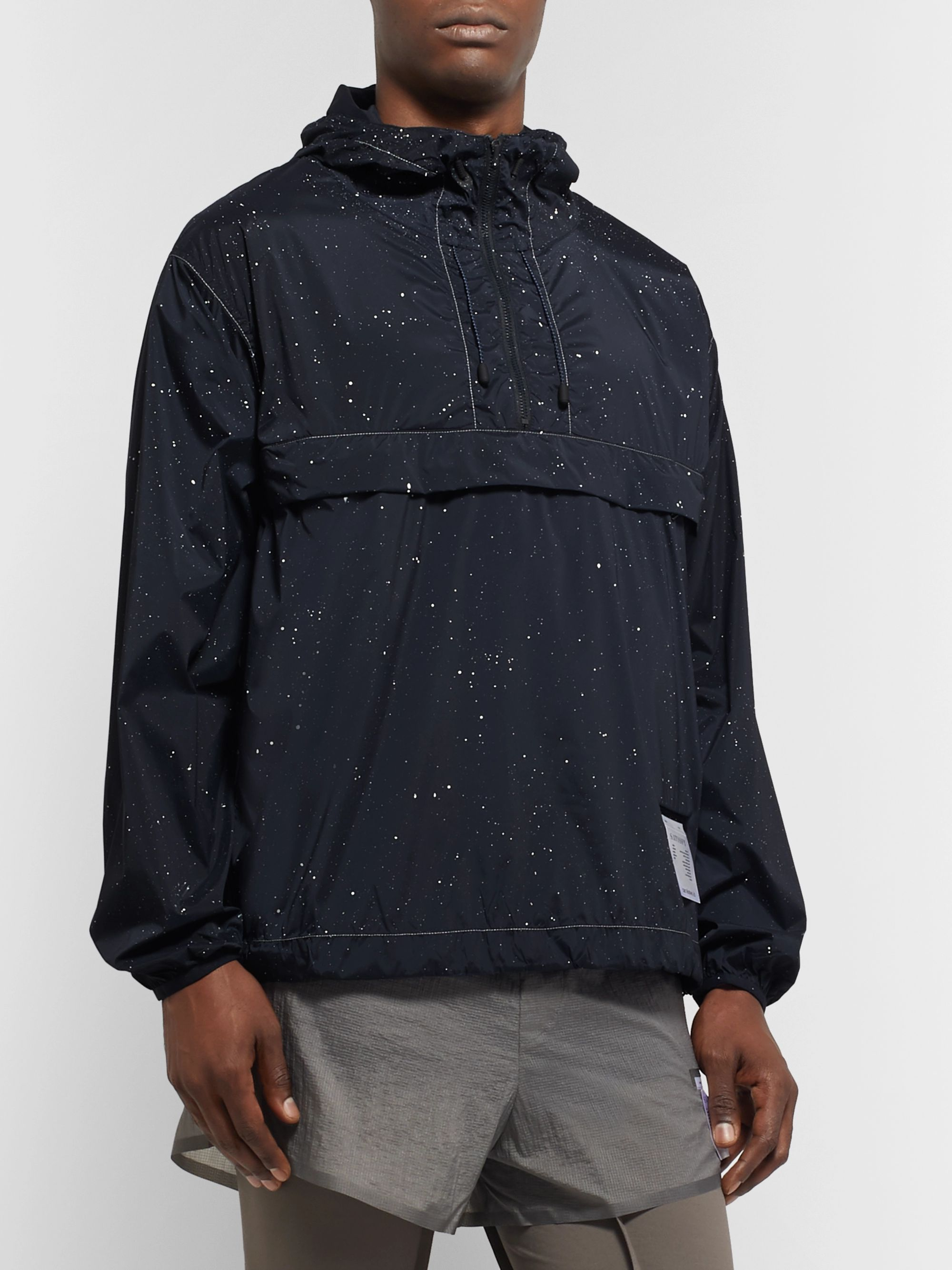 Satisfy Printed Stretch-Shell Hooded Anorak