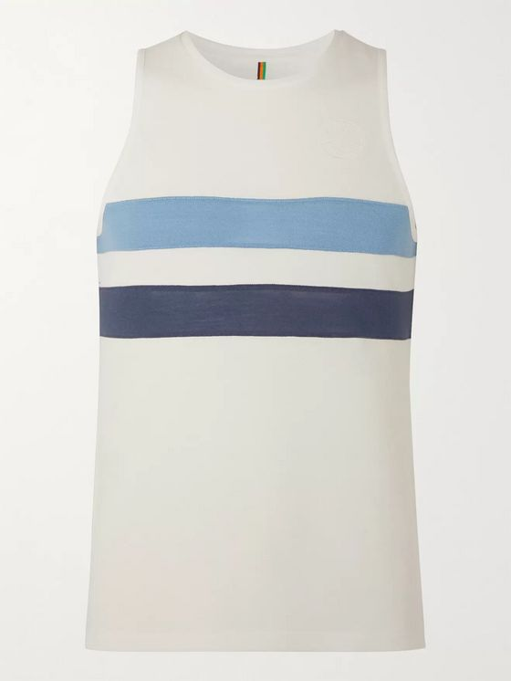 Iffley Road Lancaster Slim-Fit Striped Mélange Drirelease Piqué Tank Top