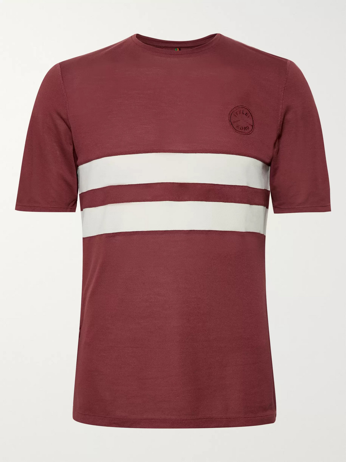 Iffley Road Cambrian Striped Drirelease Piqué T-shirt In Red