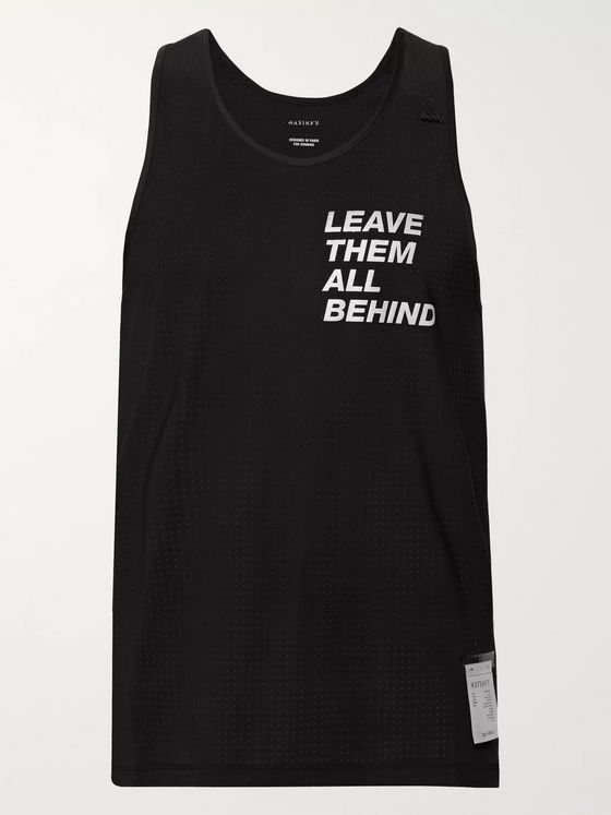 Satisfy Printed Stretch-Mesh Tank Top