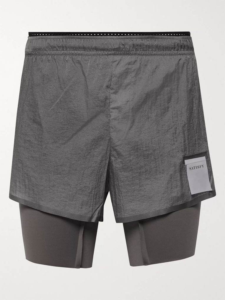 Satisfy Coffee Thermal Short Distance Ripstop and Justice Shorts