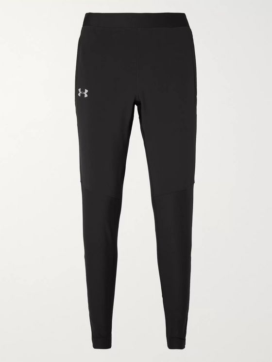 Under Armour UA Qualifier Slim-Fit Tapered Panelled Heatgear Track Pants