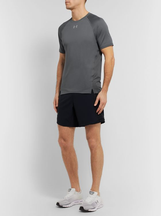 Under Armour UA Qualifier HexDelta Mesh-Panelled Microthread T-Shirt