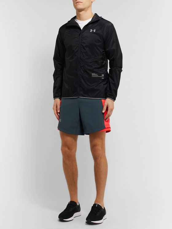 Under Armour UA Qualifier Speedpocket Slim-Fit Mesh-Panelled Running Shorts