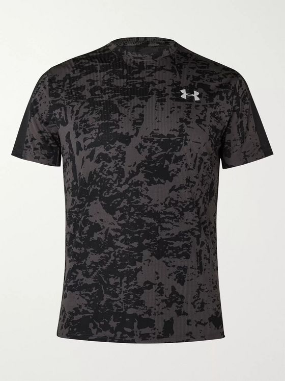 Under Armour UA Speed Stride Mesh-Panelled Printed Tech-Jersey T-Shirt