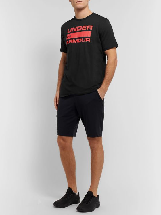 Under Armour UA Team Issue Wordmark Logo-Print HeatGear T-Shirt
