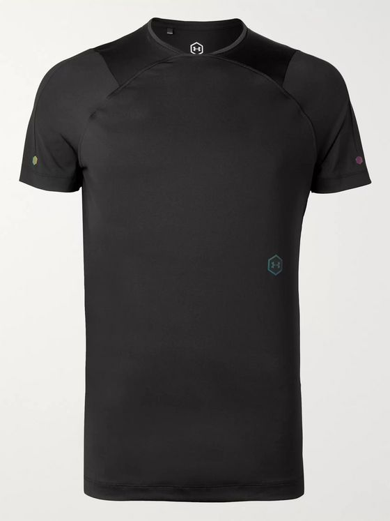 Under Armour UA Rush SS Mesh-Panelled Cellient Stretch Tech-Jersey T-Shirt