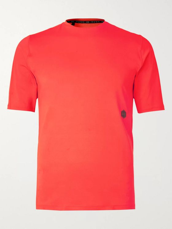 Under Armour UA Rush Mesh-Panelled Celliant Stretch Tech-Jersey T-Shirt