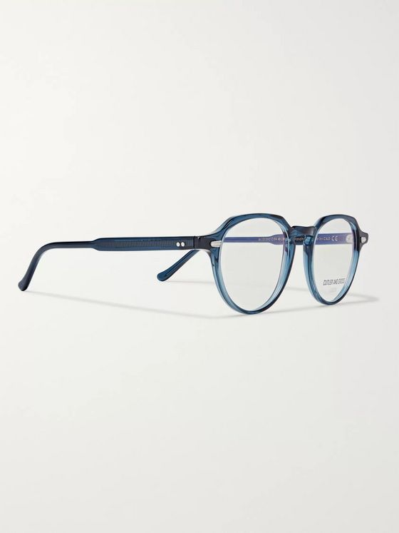Cutler and Gross Hexagonal-Frame Acetate Optical Glasses