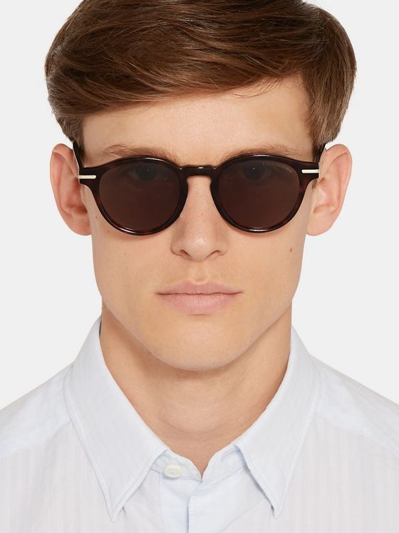 Cutler and Gross Round-Frame Tortoiseshell Acetate Sunglasses