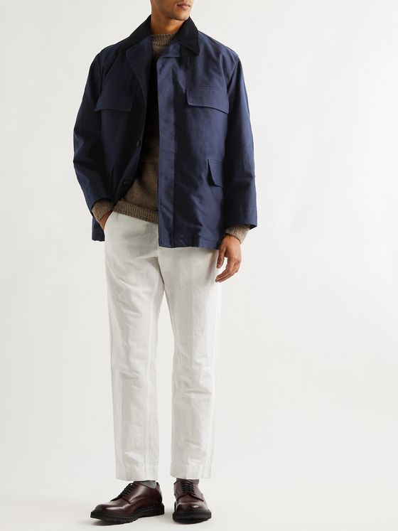 L.E.J Corduroy-Trimmed Cotton Field Jacket With Removable Liner