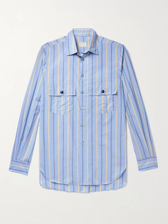 L.E.J Striped Cotton-Poplin Shirt