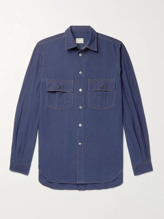 L.E.J Indigo-Dyed Denim Shirt