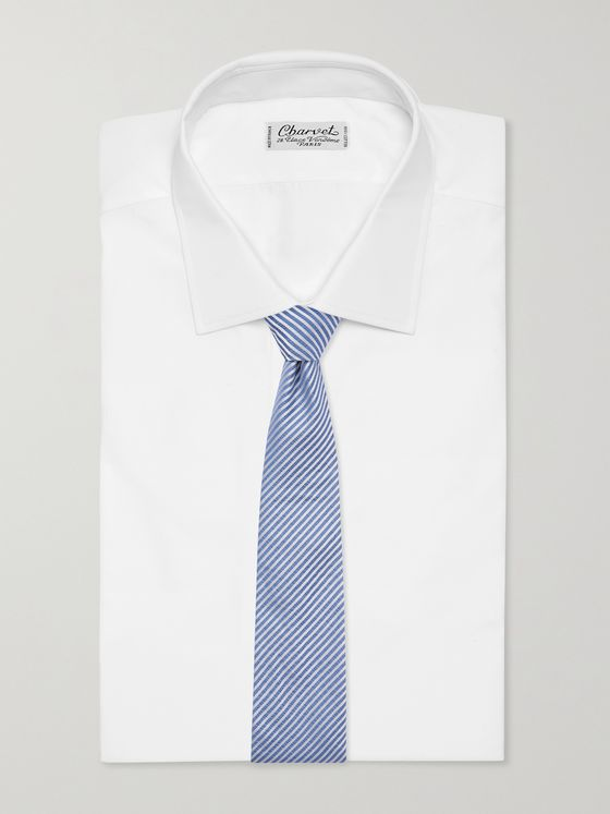 GIORGIO ARMANI 8cm Striped Silk-Twill Tie