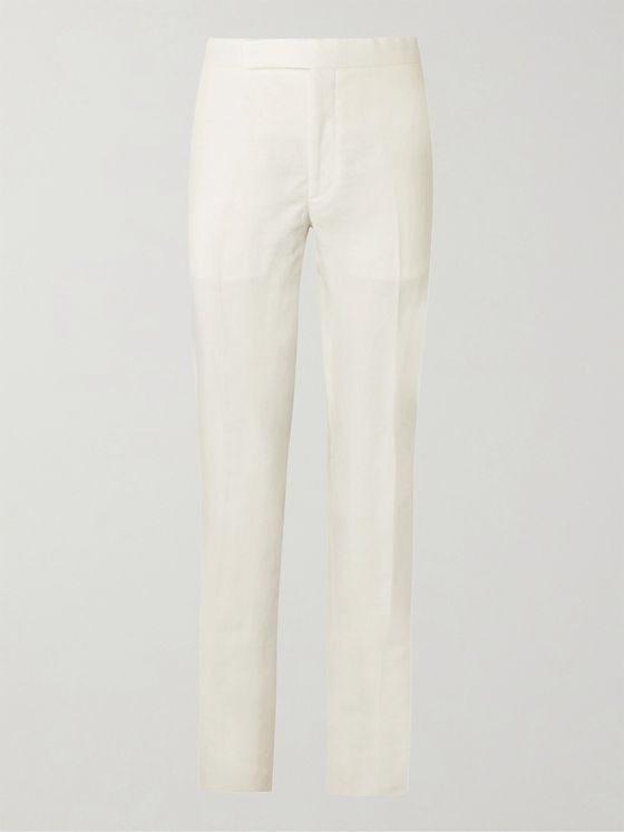 RALPH LAUREN PURPLE LABEL Gregory Linen Trousers