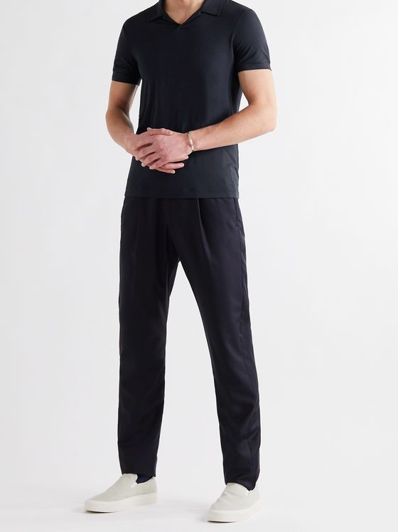 GIORGIO ARMANI Slim-Fit Jersey Polo Shirt