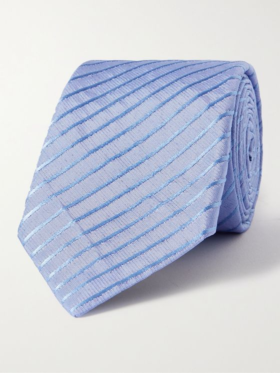 GIORGIO ARMANI 8cm Striped Silk-Blend Tie