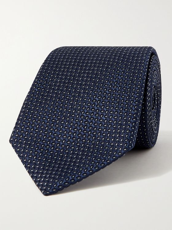GIORGIO ARMANI 8cm Silk and Cotton-Blend Jacquard Tie