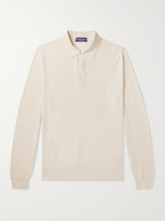 RALPH LAUREN PURPLE LABEL Mulberry Silk and Cotton-Blend Polo Shirt