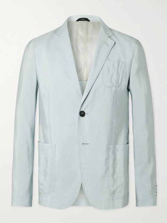 GIORGIO ARMANI Slim-Fit Silk-Blend Twill Suit Jacket