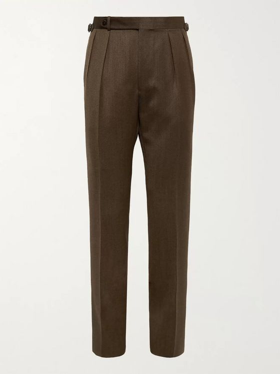 BEAMS F Wool-Twill Suit Trousers