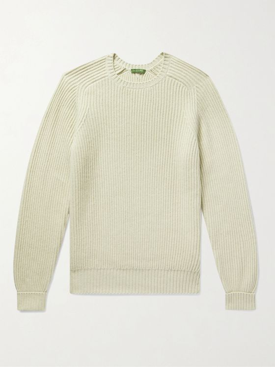 Sid Mashburn Ribbed Merino Wool-Blend Sweater