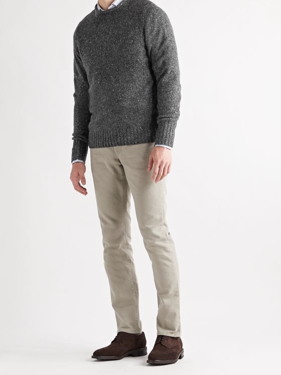 Sid Mashburn Slim-Fit Mélange Merino Wool-Blend Sweater