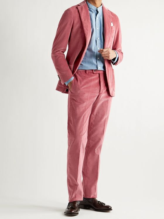 Sid Mashburn Cotton-Corduroy Suit Trousers