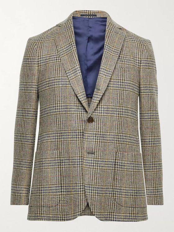 Sid Mashburn Slim-Fit Prince of Wales Checked Wool Blazer