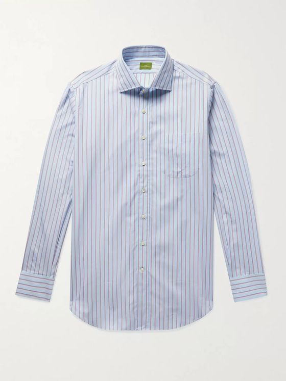 SID MASHBURN Striped Cotton-Poplin Shirt