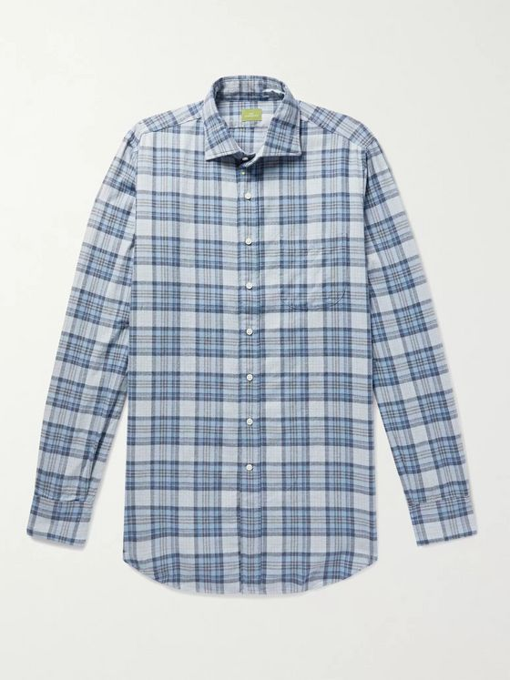 Sid Mashburn Checked Cotton-Flannel Shirt