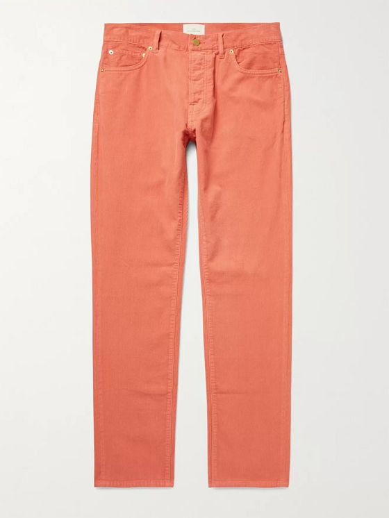 SID MASHBURN Cotton-Corduroy Trousers